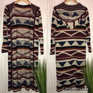 Forever 21 Aztec Cardigan Duster  size Small